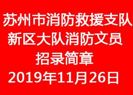 苏州市消防救援支队新区大队消防文员招录简章