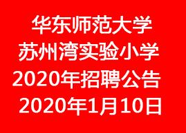 华东师范大学苏州湾实验小学2020年招聘公告